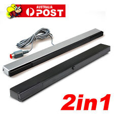 2in1 Replacement Wireless +Wired Sensor Bar for Nintendo Wii