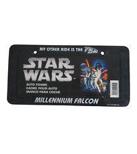 Brand New Star Wars Millenium Falcon Car Truck Plastic License Plate Frame