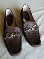 Antonio Melani womens driving mocs slip on loafers size 9.5M horse bit leather
