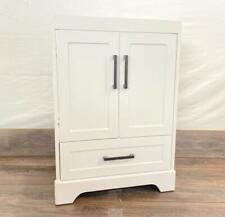 "Modern 24"" Style Selections 2 Door / 1 Drawer Bathroom Vanity In White"