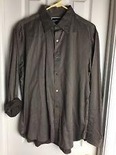 Michael Kors Long Sleeve Men's Shirt Button Down Striped Top Size L CLASSIC FIT