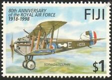 RAF Sopwith Delfín 5 F .1 Primera Guerra Mundial biplano aviones de combate sello de menta (1998) Fiji