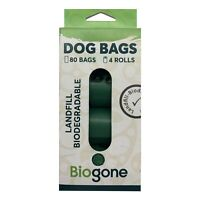 Bio-Gone Biodegradable Dog & Cat Poo Bags - 4 rolls/80 bags