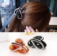 Fashion Women Girl Acrylic Crystal Hair Claw Hair Clip Korean Ponytail Holder