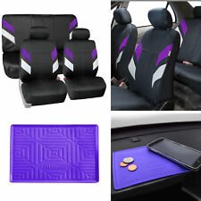 Neoprene Car Seat Covers For Auto Car Purple With Anti Slip Dash Mat Fits Jeep Cherokee