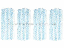 4 x BLUE & WHITE WEAVED HEADBAND HAIRBAND HAIR ACCESSORIES NEW BARGAINS IN SHOP