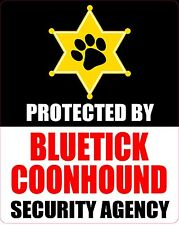 Protected By Bluetick Coonhound Security Agency Sticker