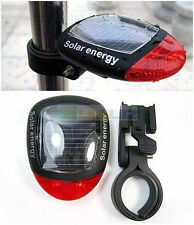 Hot Solar Power Bike Cycling Rear Back Tail Red LED Flash Light CAUTION Lamp New