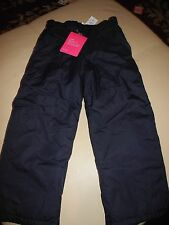 NWT GIRLS CHILDREN'S PLACE SKI PANTS LIGHTWEIGHT INSULATION NAVY YOUTH SIZE 4