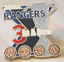 Rangers Raro victoria los pines 2011 de la Liga título 3 in (approx. 7.62 cm) una fila Insignia Danbury Mint
