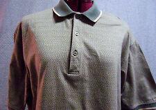 LYLE & SCOTT Golf Polo Shirt Lg  Half Buttonned down   Beige & Green