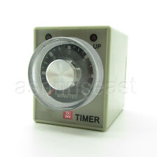 DC24V 6 Minutes 0-6M Power On Delay Timer Time Relay AH3-3 + Socket Base 8-PIN