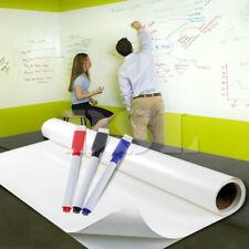 2 m x 60 cm chiffon sec Amovible Tableau Blanc Vinyle Autocollant Mural Office Home +3 Marqueur