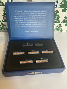Polar Express Miniature Train Christmas Tree Set Hallmark Keepsake Ornament NIB
