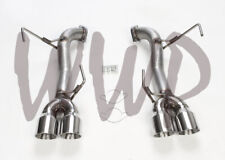Stainless SS Axle Back Exhaust Muffler Delete Kit For 15-19 Subaru WRX/STI 2.5L