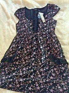 BNWT JUNK BRAND Girls / LADIES BLACK STAR DRESS size L FREE SHIPPING