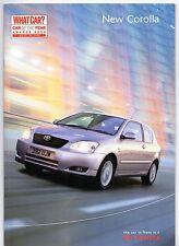 Toyota Corolla & Verso 2001-03 UK Market Sales Brochure T2 T3 T Spirit T Sport