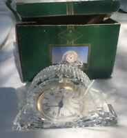 "Shannon Ireland NEW Fine Lead Crystal Mantle Clock NOS w box 24% Lead Approx 5"""