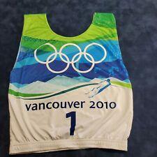 2010 Vancouver Olympics Skiers Race Bib
