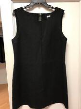 D&G Dolce & Gabbana Black Wool Dress Sz48
