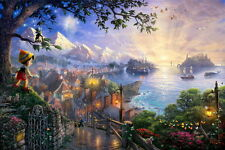 Print Art Canvas/Disney The Adventures of Pinocchio/Children room wall 12×16