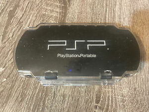 Playstation Portable PSP Hard Plastic Padded Clear Black Travel Carrying Case