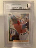 Michael Jordan 1991 Upper Deck RC Rookie Card BGS 9 MINT #SP1 White Sox Bulls