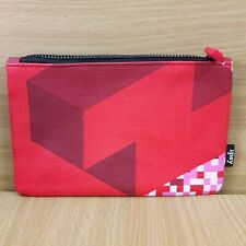 IPSY Tetris Cosmetic Makeup Bag Clutch Red Pink 5x7