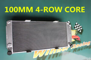 4-rows 100MM ALUMINUM RADIATOR FOR FORD GT40 V8 1964-1969