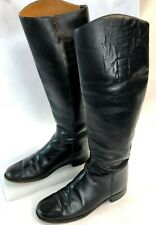 Vintage Womens Marlborough England Tall Black Leather Equestrian Riding Boots 6