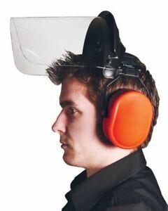 Polycarbonate Visor With Ear Defender - Strimming Set
