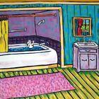 jack russell terrier taking a bath dog art tile coaster