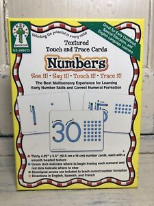 """Numbers - Textured Touch and Trace Cards - Key Education - 30 cards - 4.25""""x5.5"""""""
