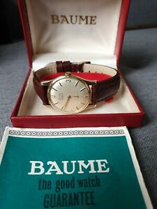 Baume 9ct Gold Mens Watch