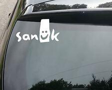 Sanuk Zapatos Surf Funny car/window Jdm Vw Euro Vinilo calcomanía adhesivo