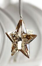 SWAROVSKI Crystal CHRISTMAS ORNAMENT GOLD STAR 1140008 Nuovo di zecca Boxed in pensione