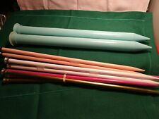 Knitting Needles Lot Of 5 Sets Large Boye Us 50/13/11/15/13 Very Good Condition