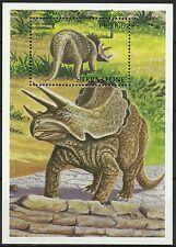Sierra Leone Dinosaure Triceratops Prehistoric Cretaceous Saurier ** 1998 Bloc