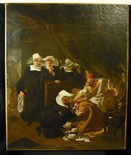 Huile sur toile Hospices de Beaune signé CH Ladomaine Ecole française du XIXe