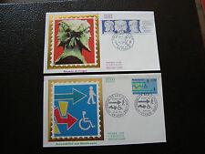 FRANCE - 2 enveloppes 1er jour 1988 (handicapes/hermes de frejus) (cy40) french