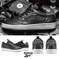 Reebok Classic Club C 85 IT Shoes Sneakers Black BS6211 SZ 4-12.5