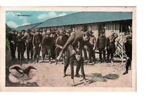Postcard US Military Soldiers at Recreation c1915-1930s
