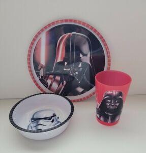 Disney Star Wars ZAK (3 Piece) Melamine Dish Set Stormtrooper Darth Vader