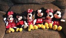 "Disney Mickey & Minnie Beanbag Plush Lot of 6 - 3 Pairs- One Each Of 7"", 8"", 9"""