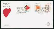 Mayfairstamps Netherlands FDC 1989 Childrens Drawing Combo First Day Cover wwr_1