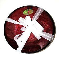 New Akcam Set Of 4 Dark Red Forged Glass,Gliterry Cereal,Salad Bowl-Turkey