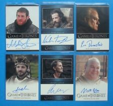 LOT **GAME Of THRONES**GoT Season 3 Auto/AutoGraph Cards TAYLOR Lesser ANTHONY
