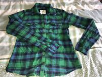 Ladies Abercrombie And Fitch Shirt Size M Green