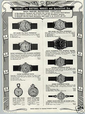 1943 PAPER AD Racine Doctor Nurse Wrist Watch Gallet Nun's Olympic Army Navy AF