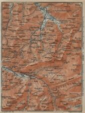 Muotathal pragel & Sihltal. Silbern liedernen (kaiserstock) IBERG 1920 Old Map